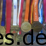 Von Links nach Rechts: Berlin Marathon 2009, Köln Marathon 2010, Hamburg Marathon 2011, Frankfurt Marathon 2011, Marburger Nachtmarathon 2012, New York Marathon 2012 (ausgefallen), Berlin Marathon 2013, New York Marathon 2013, Biggesee Marathon 2014, München Marathon 2014, Siebengebirgs Marathon 2014 (Foto und Copyright: Daniel Katzberg)