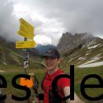 Der erste Gipfel, das Scharnitzjoch, war genommen. Jetzt ging es wieder runter.