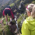 Stahlseile, steile Abhänge. Manchmal muss man halt klettern. Copyright: werun4fun.de