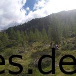 Ein typischer Moment des Transalpine-Runs: Läufer_innen in freier Wildbahn! ;) Copyright: Daniel Katzberg