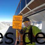 Der höchste Punkt bei ungefähr 2980 m Höhe ist erklommen. Jetzt geht es über den Gletscher in meinem Rücken abwärts. Copyright: Daniel Katzberg
