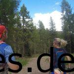 Gute 4,5 km vor dem Ziel laufen wir auf einem angenehmen, breiten Forstweg bis plötzlich Kühle auftauchen ... KÜHE! Wir nehmen uns Zeit für einige Fotos. Copyright: Daniel Katzberg