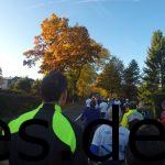 Röntgenlauf 2016 - Km 1,5. Alle laufen in Richtung Altstadt. Der linke Fahrstreifen ist abgesperrt für den Rückweg. Copyright: Daniel Katzberg