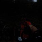 Und irgendwann so 4,5 km vor dem Ziel wurde es dann dunkel. Zeit für das Kopflicht. (Copyright: Daniel Katzberg)