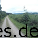 Nach dem dichten Wald mit Singletrail folgt diret ein Forstweg mit der ersten weiten Aussichten. Ca. Km 7 (Copyright: Daniel Katzberg)