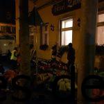 Ein kurzer Blick zur Abgabe der Dropbackstation, um kurz nach 5 Uhr morgens. (Copyright: Daniel Katzberg)