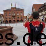 Das Rathaus vonTauberbischofsheim, kurz nach dem 71 km Ziel. Ein wenig Zeit für Fotos muss sein! (Fotografiert von Sina Koller)