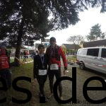 Das Finisherfoto Im Ziel: Sina hat ihren ersten Marathon erfolgreich beendet. (Copyright: Daniel Katzberg)
