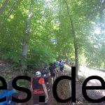 Km 0,7: Nun sind wir auf dem Trail. Wie lange Traube bahnt sich den Weg hoch. (Copyright: Daniel Katzberg)
