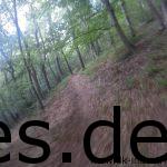 Km 44: Es kann nicht mehr weit bis zum Ziel sein. Wir laufen den letzten Downhill des Tages runter und hören den Zielsprecher. (Copyright: Daniel Katzberg)