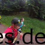 Km 16: Katharina und ich laufen hier die letzten Meter zusammen. (Copyright: Daniel Katzberg)